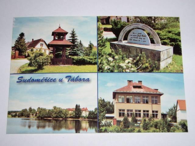 Sken pohledu obce Sudoměřice u Tábora